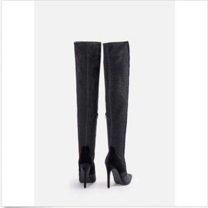 e89189075bf9 JustFab Shoes - Just Fab Freya Over the Knee Boots Size 8.5